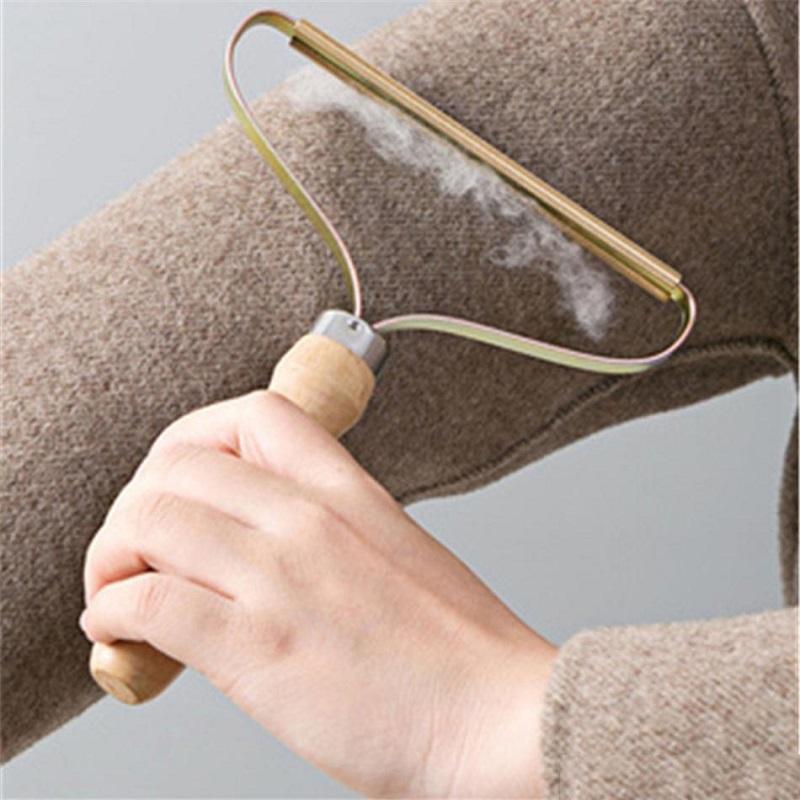 Removedor de linta de madera portátil Ropa de lana suéter herramienta limpia ropa de limpieza de limpieza de fuzz de afeitadora MUCHACHA MUCHACHA Peine de peine con cabello de neta de acero