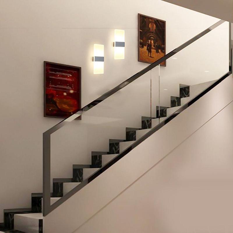 مصباح الجدار الألومنيوم الحمام تزيين المنزل غرفة نوم غرفة المعيشة الإضاءة للمطبخ السرير
