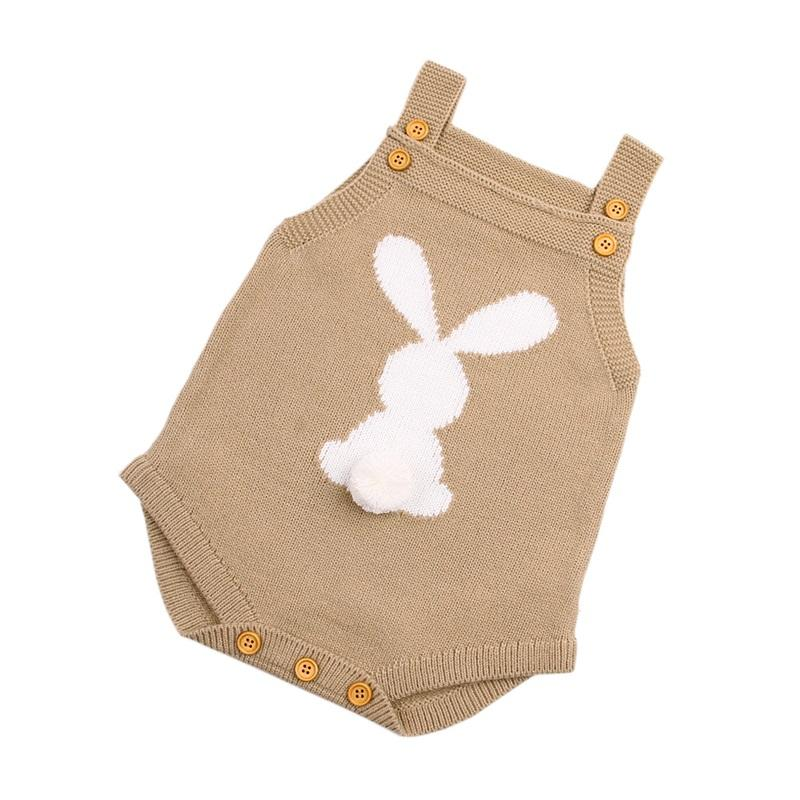 Body recién nacido Body Body Adorable Rabbit Pattern Girl Boy Knit Jumpsuits Niño Infantil Divertido Onsie Otoño Primavera Outerwear Ropa 849 x2