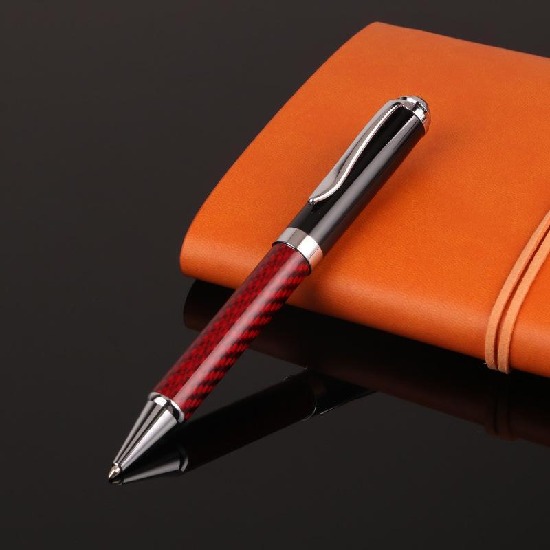 Ballpoint Pens 1 Pcs Luxury Carbon Brazed Metal Pen Business Medium Nib Student School Office Statione
