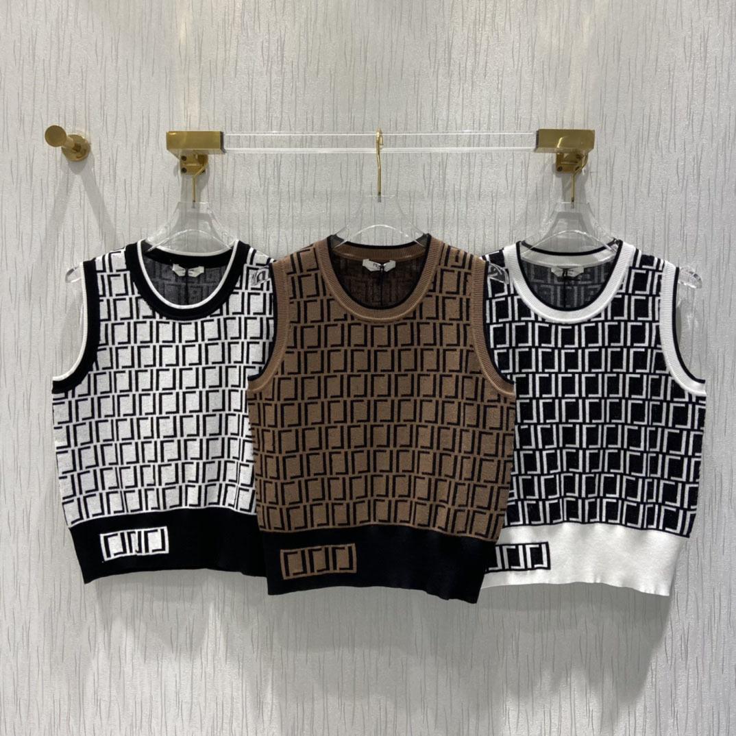 2021S Fashion Brand Fen ND Di Ties Womens вязаный свитер Летние повседневные женские дизайнеры Одежда FF Шерстяные вязаные жилы поглощения