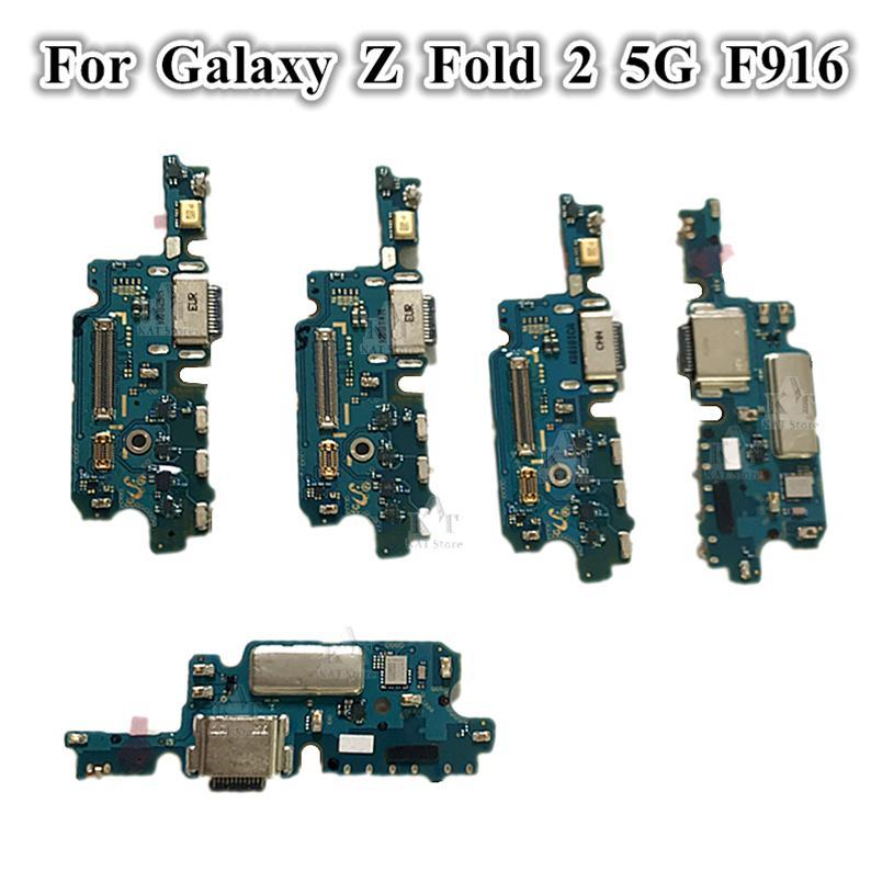 20 adet Orijinal USB Şarj Dock Bağlayıcı Flex Kabloları Şarj Bağlantı Noktası Mikrofon Kurulu Samsung Galaxy Z Katlama 2 5G F916 F9160 W21
