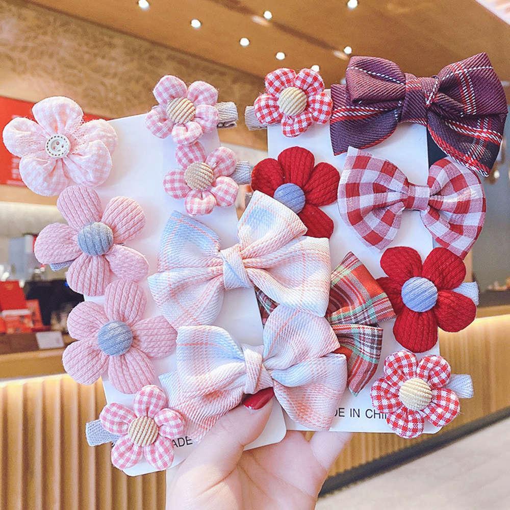 Mädchen Kopfschmuck Mode fremde Stil Baby Plüsch Haarnetz Net Rot 2021 Neue Kinderhaarnadel Prinzessin Mode Koreanische Version