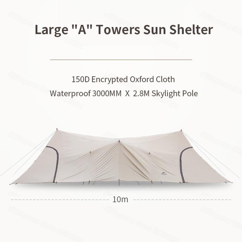 NatureHike Cloud Desk Escritorio Twin Tower Shelter Equipo Camping Equipo de camping grande 50D Oxford Turística Turística Toldo Impermeable Tiendas de Teles y Refugios