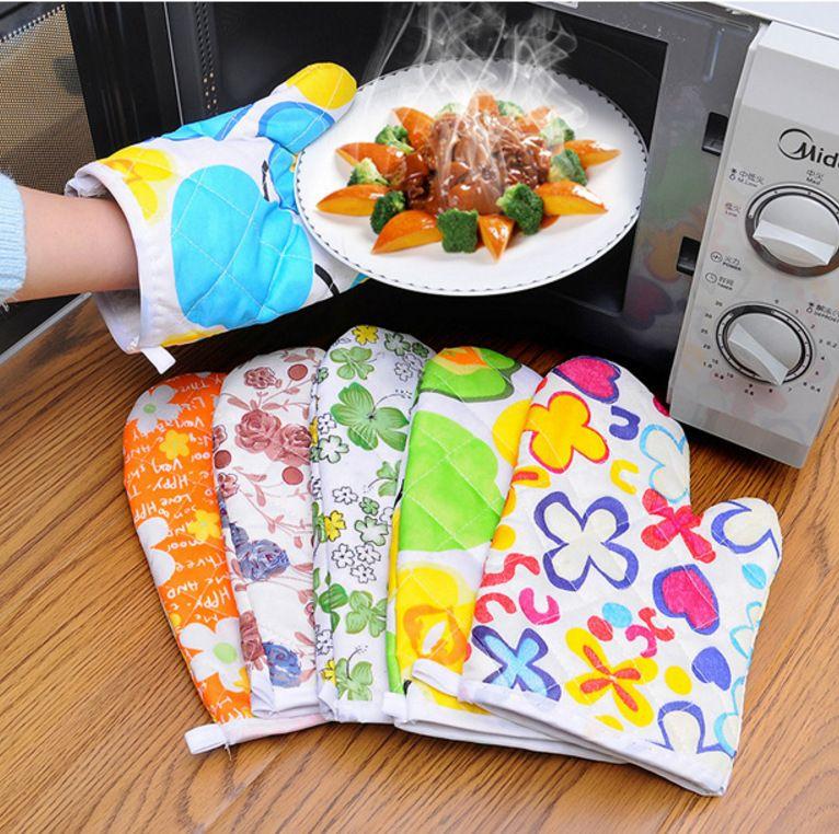 الميكروويف فرن القفازات المضادة للسيطرة المنزلية الخبز عالية الحرارة مقاومة للقطن الأبيض مصنع بيع مباشرة 1 كيس من قفازات العزل الحراري