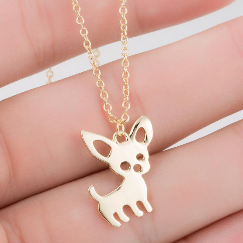 SMJEL New Cute Chihuahua Pet Pendant Necklaces for Women Love My Pet Animal Dog Necklace Choker Ketting Jewelry Gifts 1619 V2