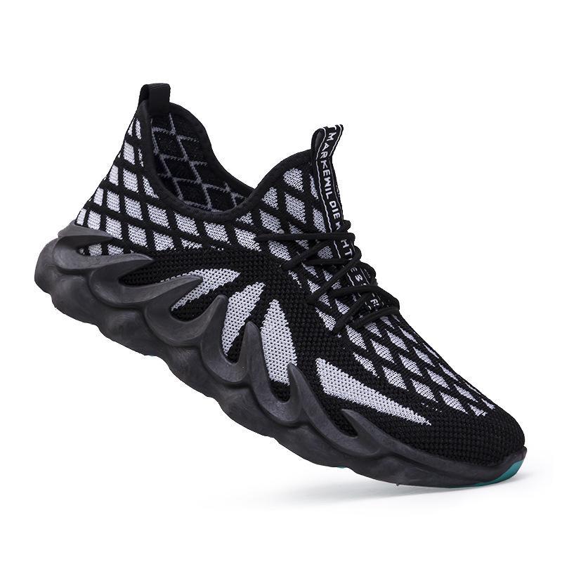 2022 İlkbahar ve Sonbahar Yeni Rahat Moda Ayakkabı Erkekler Nefes Kaymaz Ayakkabı Erkek Rahat Tüm Maç Erkek Ayakkabı Üzerinde Kayma