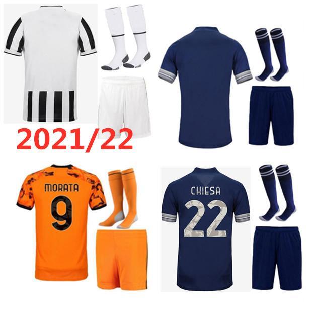 Versão para jogadores Juventus camisas de futebol 2020 2021 RONALDO DE LIGT camisa de futebol 20 21 RAMSEY DYBALA JUVE uniformes kit dos homens + crianças criança 4º quarto