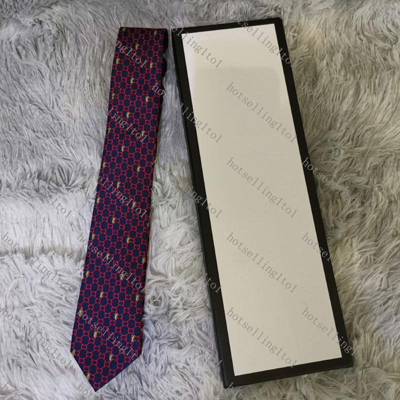 Carta de los hombres Corbata de seda corbata de oro animal jacquard fiesta de moda diseño de moda woven con caja G002