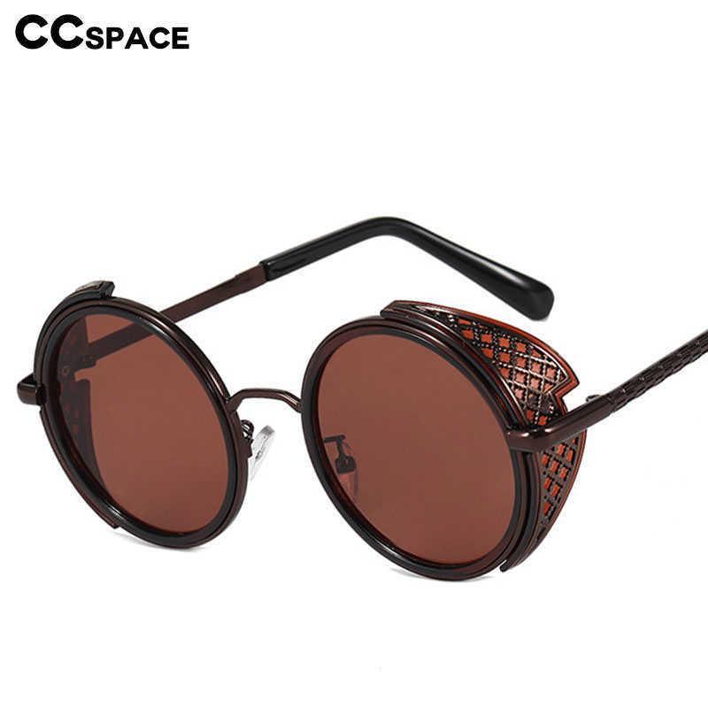 49249 Dampf Punk Luxus Sonnenbrille Runde Männer Frauen Mode Shades UV400 Vintage Gläser 210529