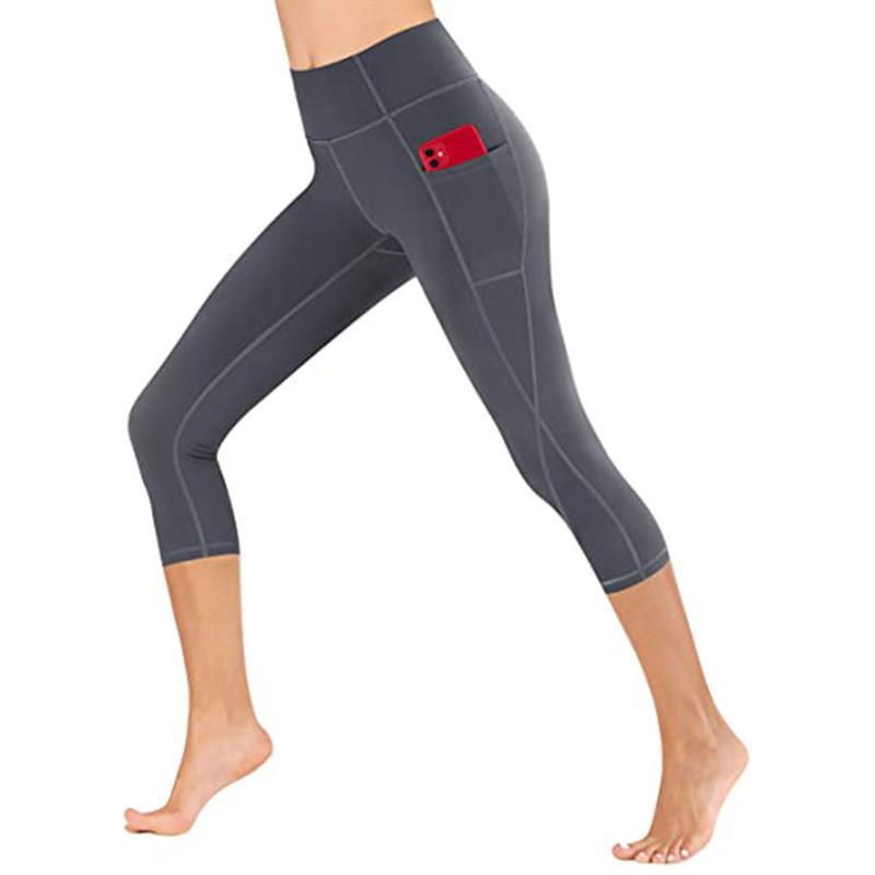 Damengamaschen Mode Frauen Damen Hohe Taille Hosen Workout Skinny Taschen Laufen Skateboarding