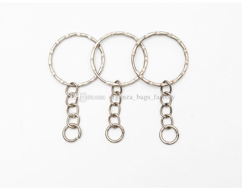 Antigo prata liga de banda cadeia chave anel diy acessórios jóias fazendo