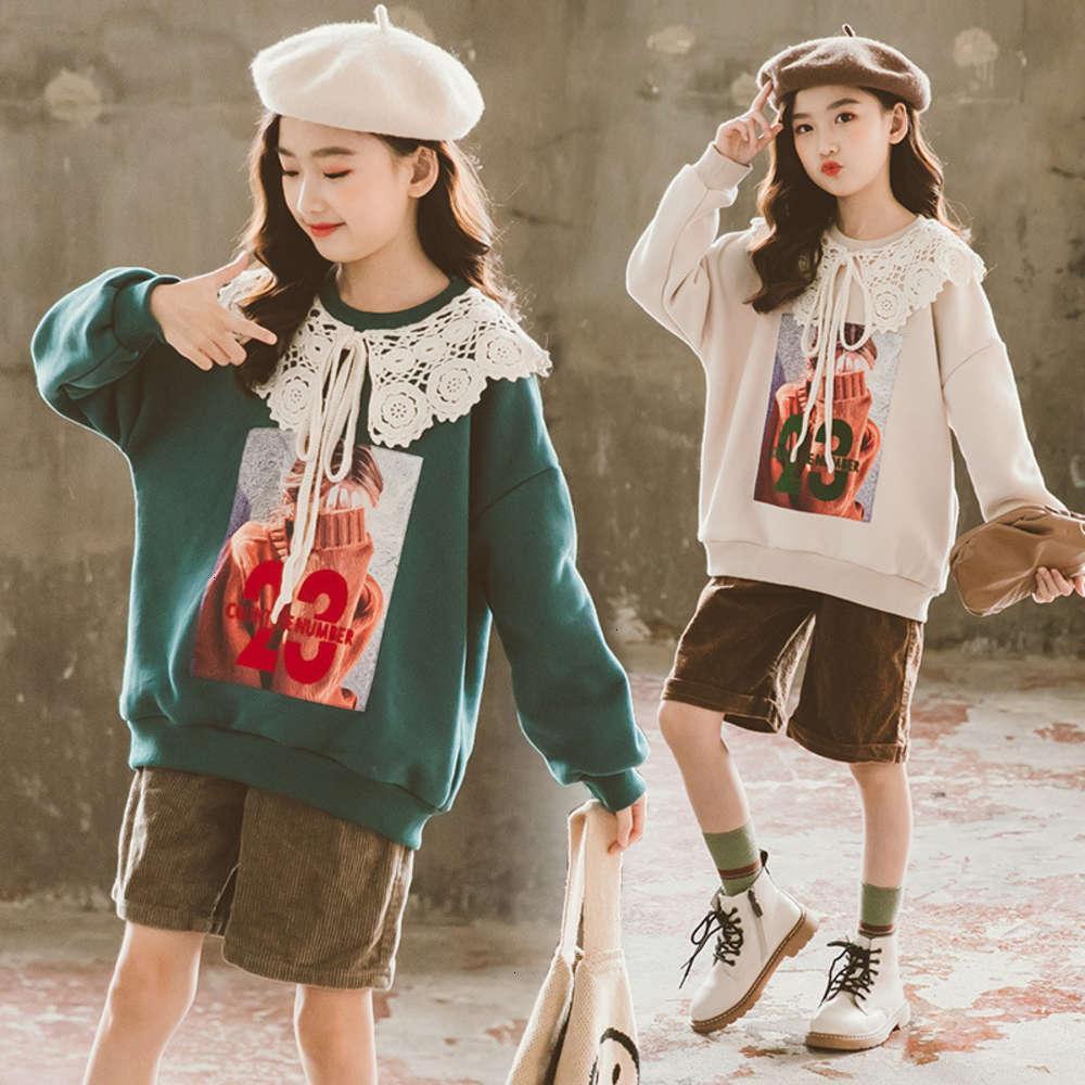 Sweats à capuche Sweatshirts Sweats Physique Pull à laweries de laweries, Sle de la dentelle des filles, Manteau de base d'hiver d'automne, Mode épaissi, Chine et Universi Enfants Haut coréen, Peluche