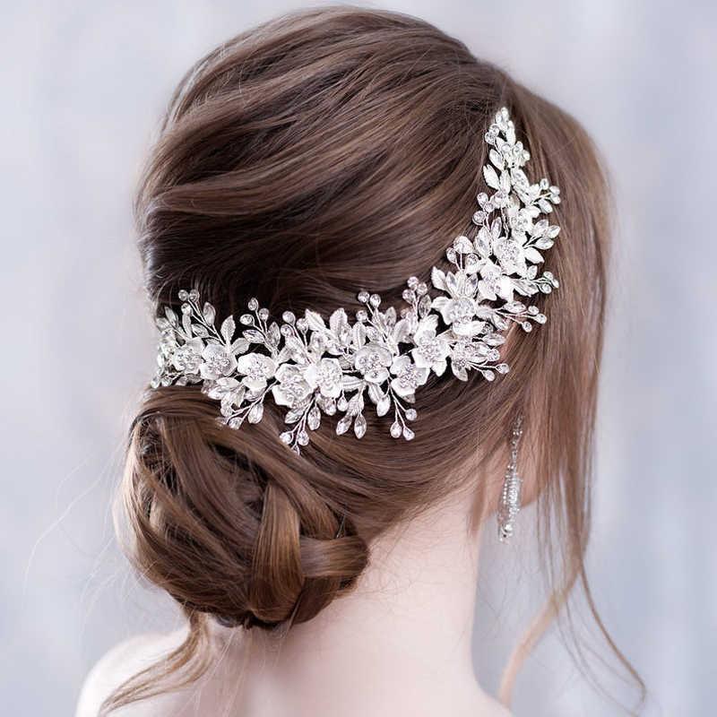 Zubehör Strass Blume Bridal Tiara Stirnband Kamm Pins Hochzeit Haarschmuck