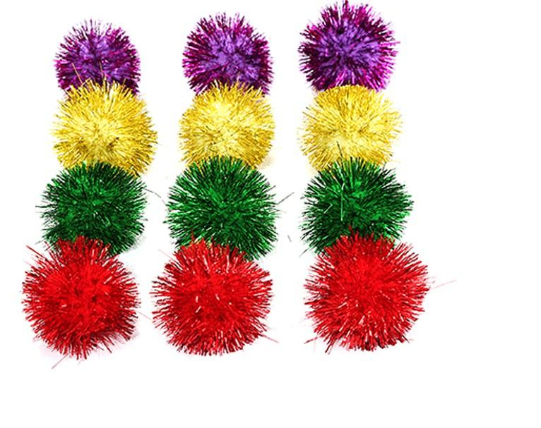 Juguete de gato 5 cm bola brillante bolas pequeñas mascotas juguetes divertidos gatos suministros coloreador aleatorio 80pcs por lote