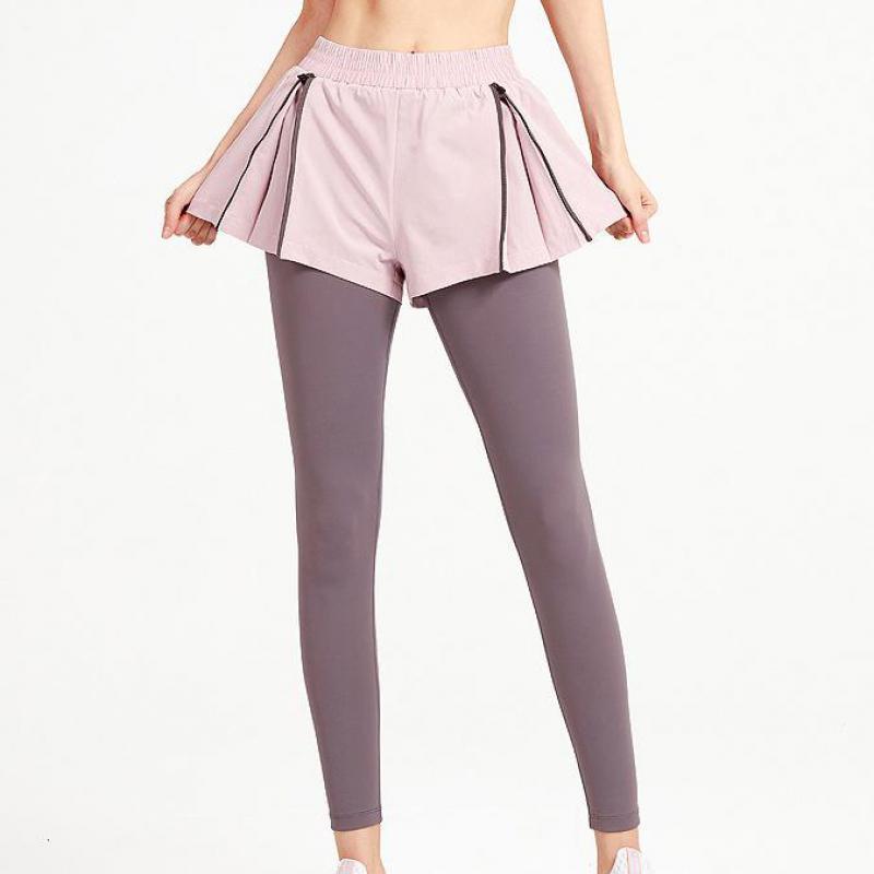 Duas peças Calças de fitness Cintura alta correndo yoga esportes Quick seco roxo roxo preto apertado mulheres 134