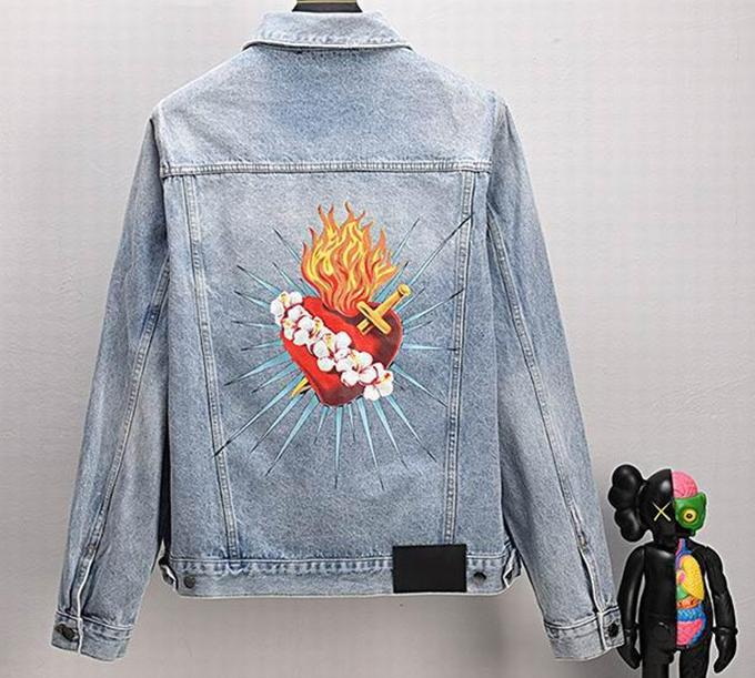 Hombres Estilista Outerwear Jacket Mass Mans Mujeres Palmas de Denim Chaquetas Para Hombre Diseñadores Chaquetas Hip Hop Manga Larga Parejas Streetwear Hoodies Angels Abrigos