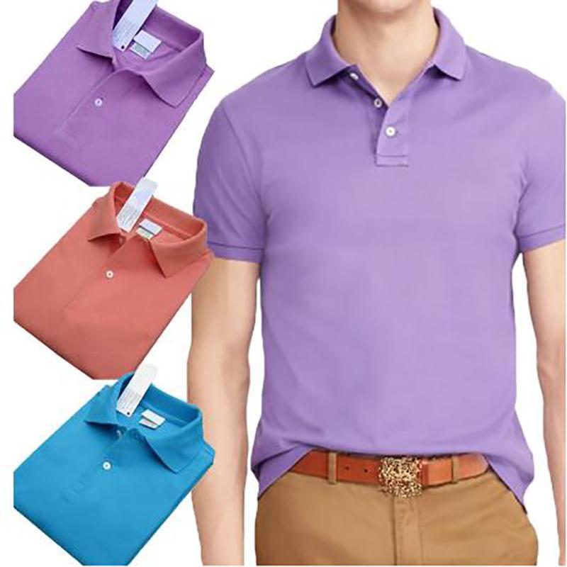 Algodón polos camisetas camisa para hombre de alta calidad bordado de cocodrilo logo tamaño grande s-6xl manga corta verano diseñador casual 2021 polo