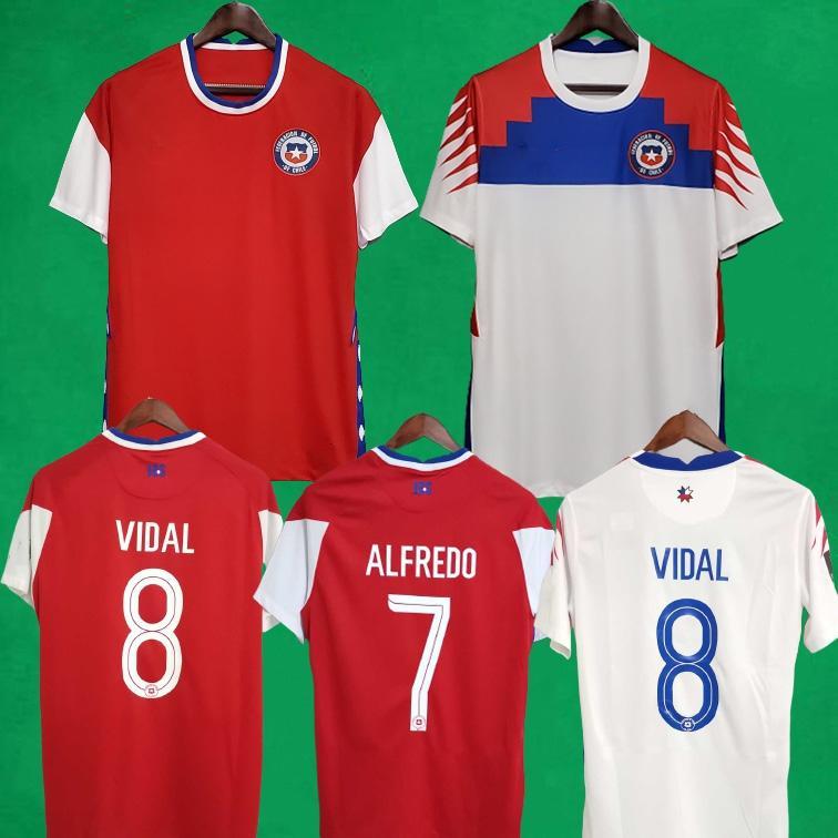 2021 Chile Soccer-Trikots Chilenische Zuhause 20 21 Vidal Alexis Sanchez Felipe Mora Erick Pulgar Football Shirts Herren Kurzarm Uniformen