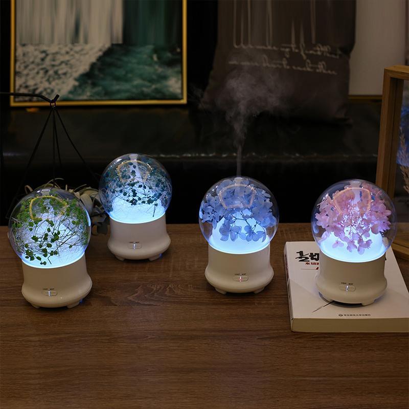 100ml Creative Eternal Flower Humidificatore Air Cooler 7 Colourful Night Light Aroma Diffusore 2 Spray per la casa per la casa Desktop Desktop Baby Humidificatori sani
