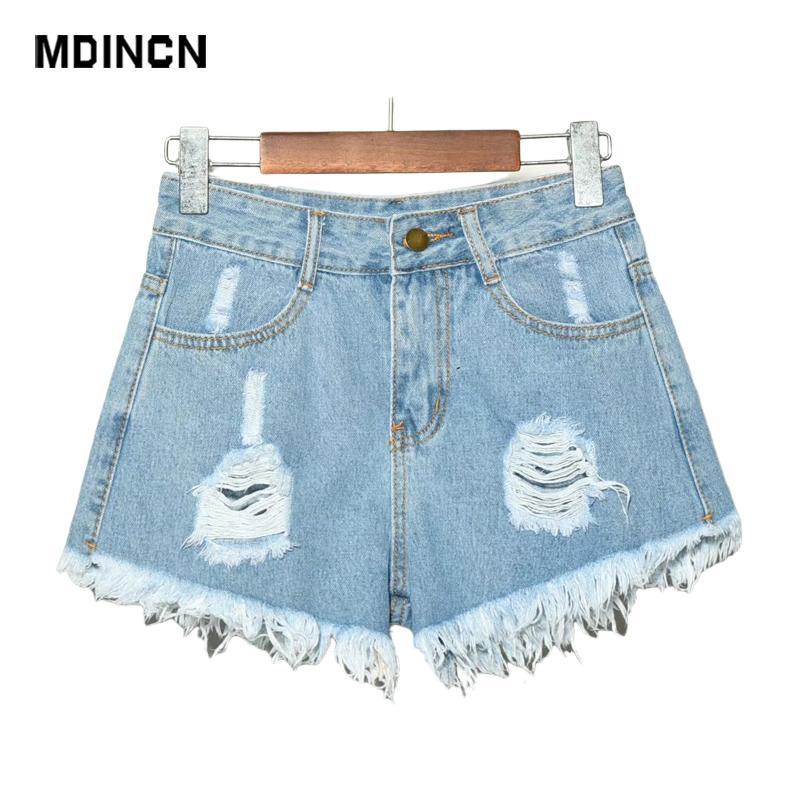 Европа голубые сжимания Gat джинсовые для женщин летом новый бренд модный тонкий повседневный плюс размер женские высокие шорты завода 6xL