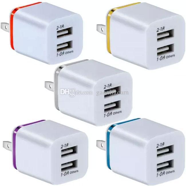 العالمي مصغرة 2.1a شاحن USB المزدوج بنوم بنه الكهربائي شواحن الهاتف المحمول لون الهاتف الذكي هواوي Xiaomi
