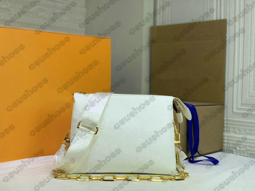 كوسين pm مصمم حقيبة الكتف تنقش حقيبة يد جلدية المصممين الفضلات المرأة الصليب الجسم مقبض أكياس سلسلة محفظة محفظة crossbody M57792 M57791 M57790