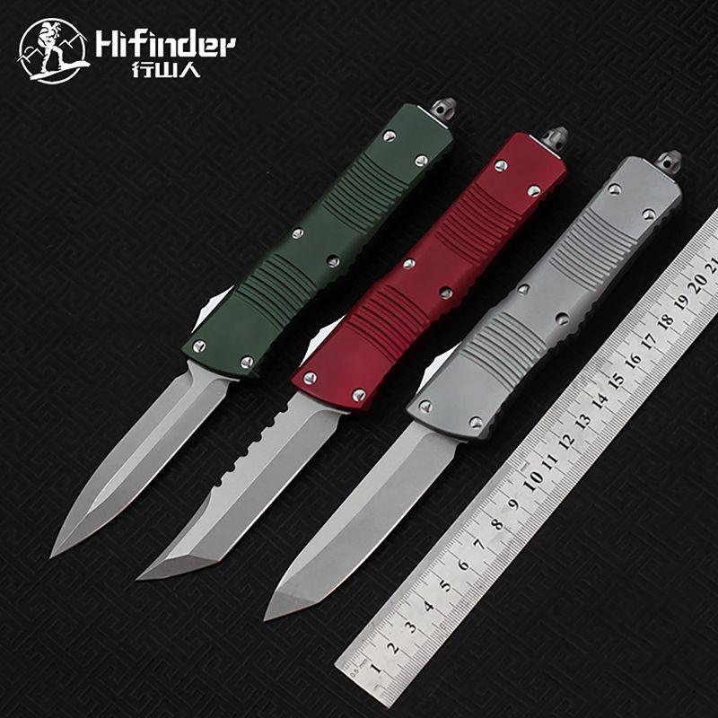HIFINDER Wandermesser 5 Arten von Farbe gemacht D2 Blade Aluminium Griff Survival EDC Camping Jagd Outdoor Kitchen Tool Key