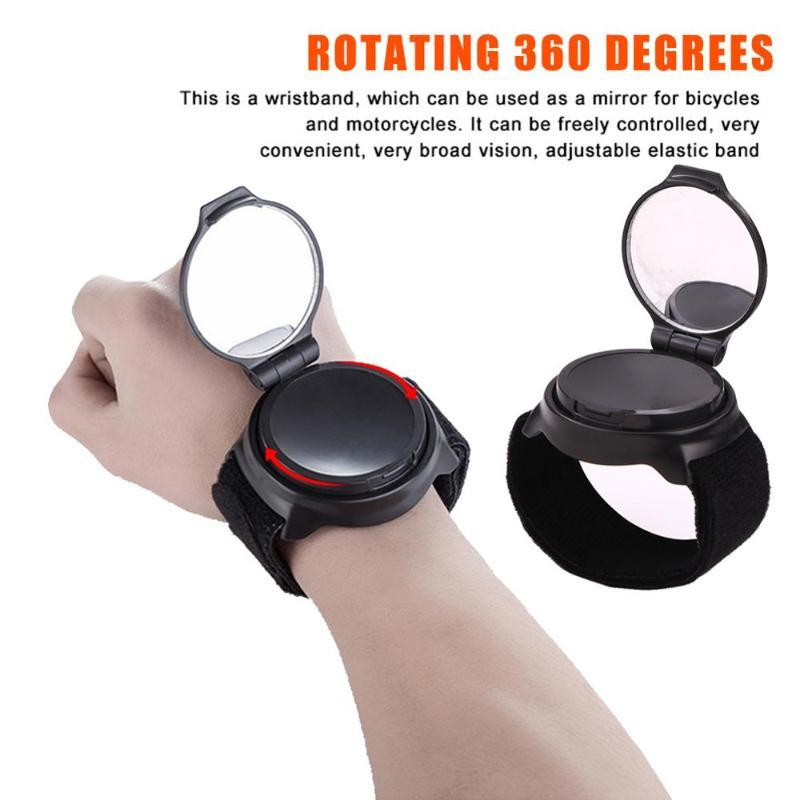 Bike Groupsets Mirror Bicycle Back Cycling 360 Degree Rotate MTB Arm Wrist Strap Rear View Accessories Rearview