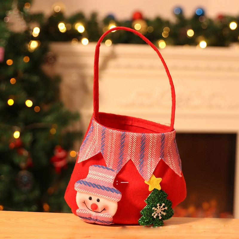 Sac de Noël Sac Candy Sac Apple Sac Arbres de Noël Arbres de Noël Bonne année BWF9587