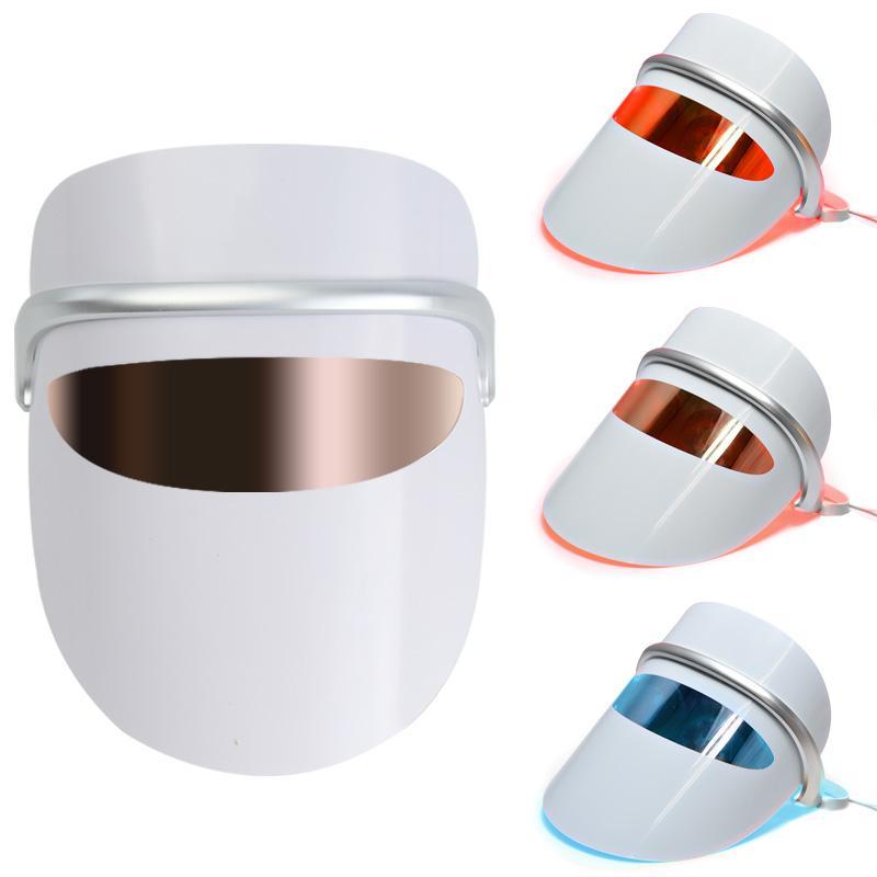 جودة عالية الوجه سبا 7 ألوان led ipl ضوء العلاج قناع الوجه حب الشباب مكافحة التجاعيد أداة علاج الجمال أدوات العناية بالبشرة
