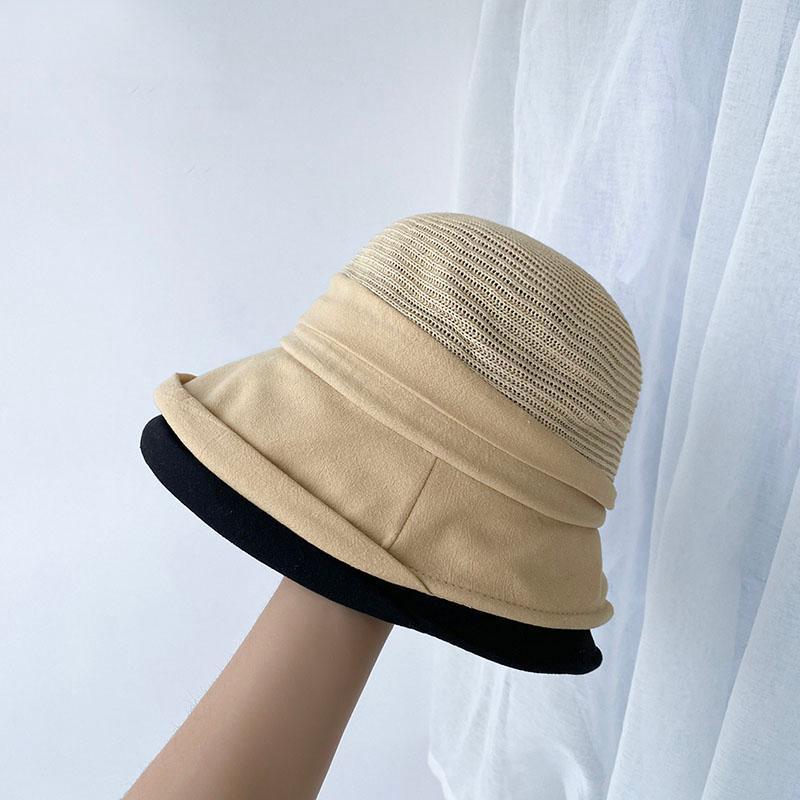 Sombreros de ala ancha Summer Transpirable Sol Protectores Caps Mujeres Negro Beige All Match Street Street Sombrero Sombrero Plegable Moda delgada 56-58cm 2021