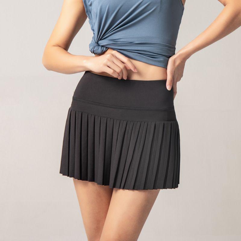 2020 Sports Yoga Pilates Panates Fitness Jupe courte Badminton Respirant Jeunes Femmes Anti-exposition Tennis Skir