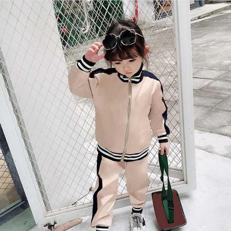A1 2021 çocuk giyim setleri 2 adet çocuklar bebek takım elbise erkek kız uzun kollu gömlek + pantolon spor elbise hoodies