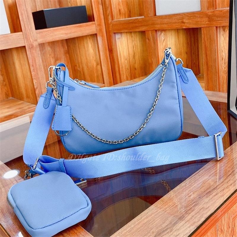Luxurys 2021 Modedesigner Umhängetaschen Nylon Hobos Geldbörsen Brief Handy Berühmte Crossbody Handtasche Frauen Handtaschen Einkaufen Tasche Münze Brieftaschen Rucksack