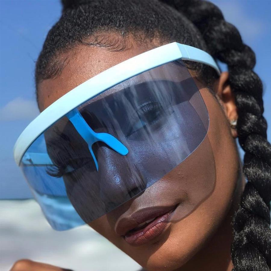 Sombrero integrado lente grande hembra anti espeso boca espuma protectora gafas de sol al aire libre ultravioleta 6890 O7IX