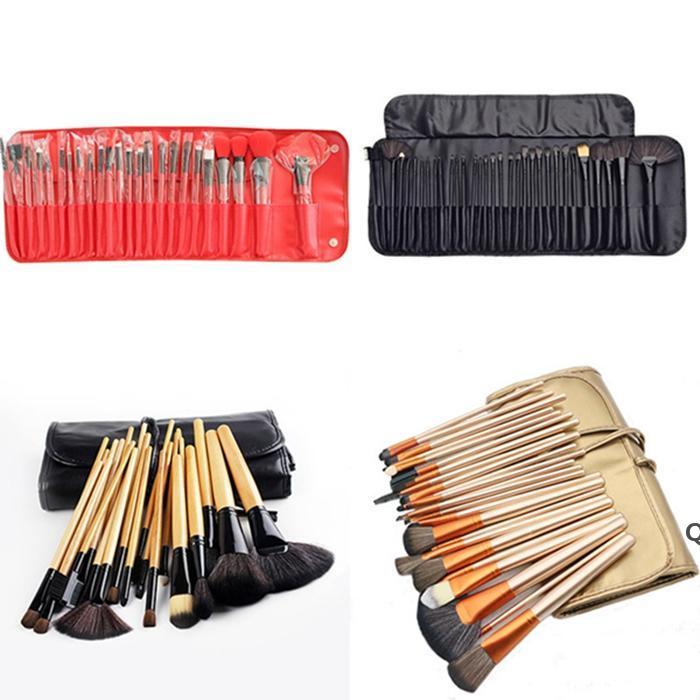 فرش ماكياج المهنية 24pcs 3 ألوان المكياج فرشاة مجموعات مستحضرات التجميل مجموعة DHB6299