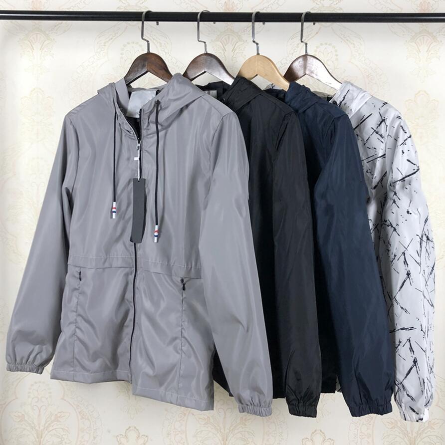 Mens jaqueta casaco desenhista primavera outono windrunner hoodie zipper esportes ao ar livre windbreaker casacos casuais costurando stitchwear homens roupas mais tamanho