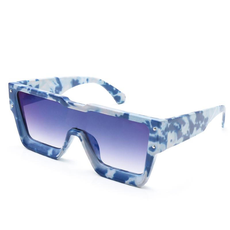 2021 Europäische und amerikanische Mode Neue Produkte Frauen Square Sonnenbrille Wasserdichte UV400 Gläser