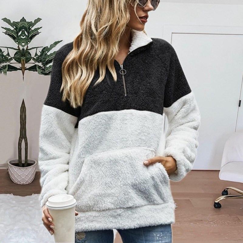 Hoodies das mulheres moletom com capuz superdimensionado manga comprida moletom outono inverno zíper zíper hooded zip up para meninas 2021
