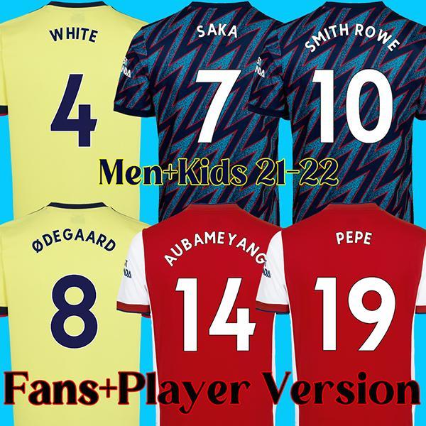 Camisa de futebol 21 22 arsenal Camisa de futebol ARSENAL FC 2021 2022 AUBAMEYANG BEN WHITE PEPE THOMAS LACAZETTE kits masculinos e infantis