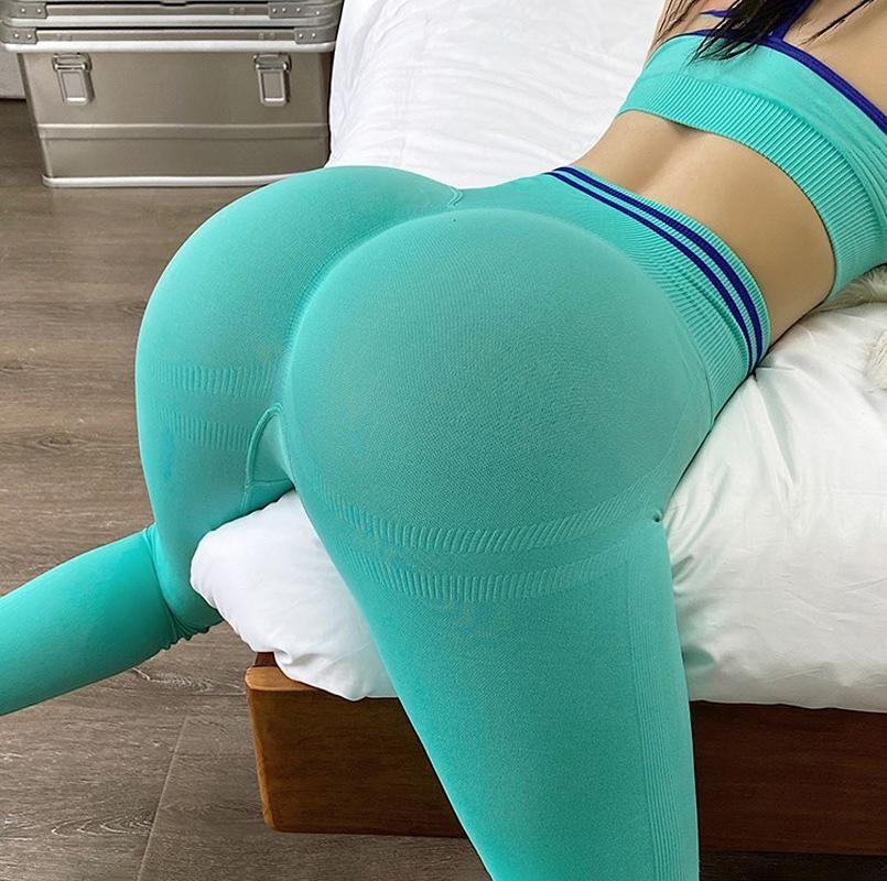 # 221 Weibliche Anti-Cellulite-Sculpt-Sculpt-Croch-Busseable-Leggings Sexy Yoga-Hosen-Outfit