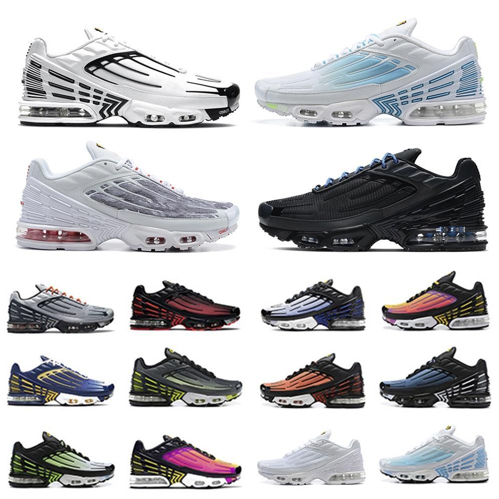 حذاء الجري للرجال Obsidian TN Plus 3 III حذاء الجري TN3 ثلاثي أبيض أسود Hyper OG USA Neon Crimson Red Michigan أحذية رياضية للرجال Nike Air Max Tn Plus Airmax