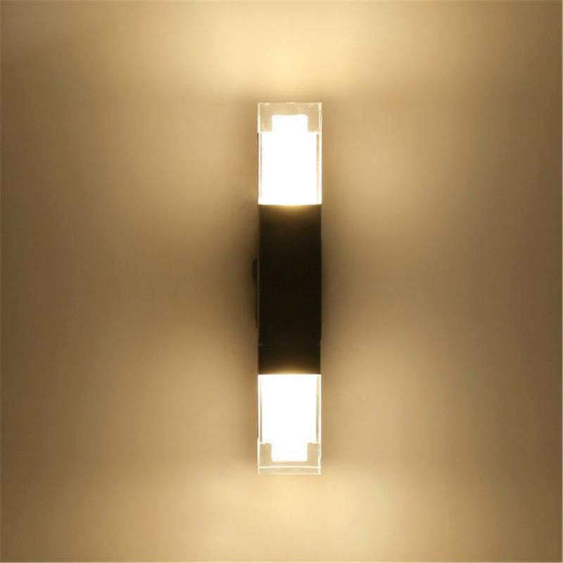 الصفحة الرئيسية LED الشمعدان الجدار للماء ضوء حديقة ممر نوم المعيشة في الهواء الطلق أضواء داخلي مصباح تركيبات