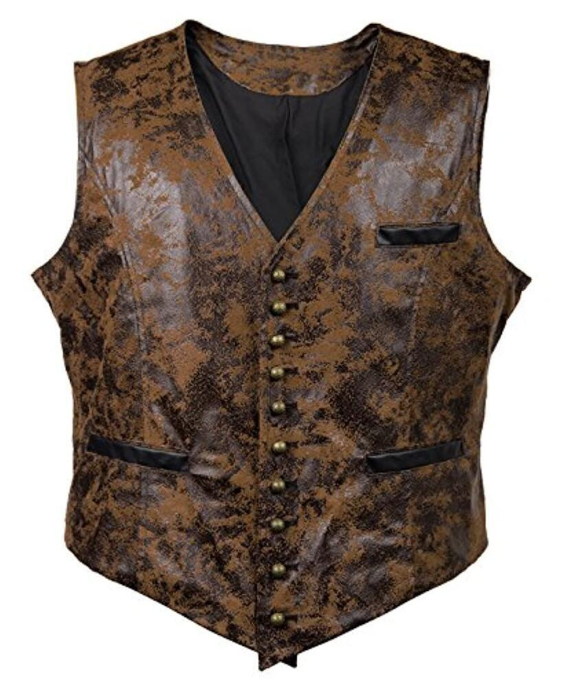 Sonbahar kış erkek moda süet tek göğüslü yelek trendi deri yelek erkekler