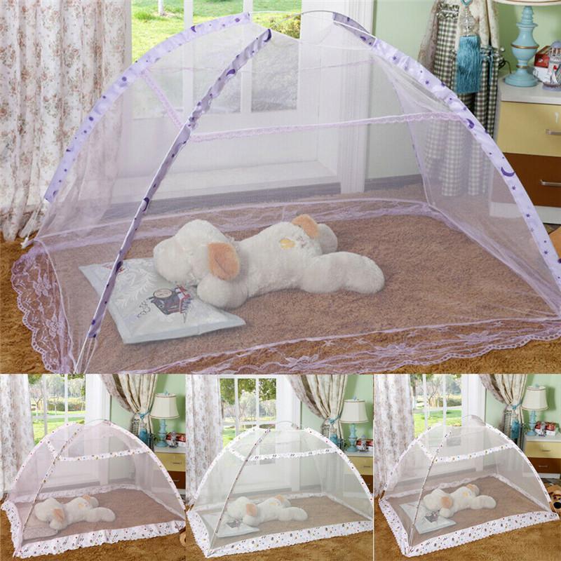 아기 유아 휴대용 접이식 여행 모기 그물 침대 키즈 캐노피 침대 침대 메쉬 커튼 침구 돔 텐트 그물