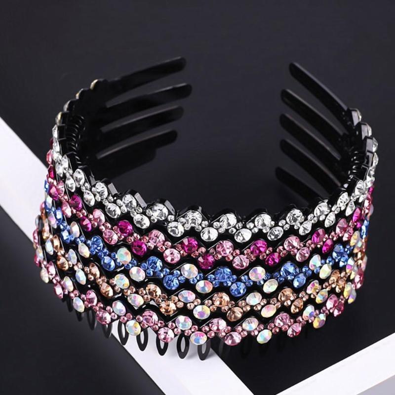 Luxus Bejeweled gepolsterte Stirnbänder Mode luxuriöse Rhinestones Haarbänder für Frauen sparsame Neuheit Haarschmuck