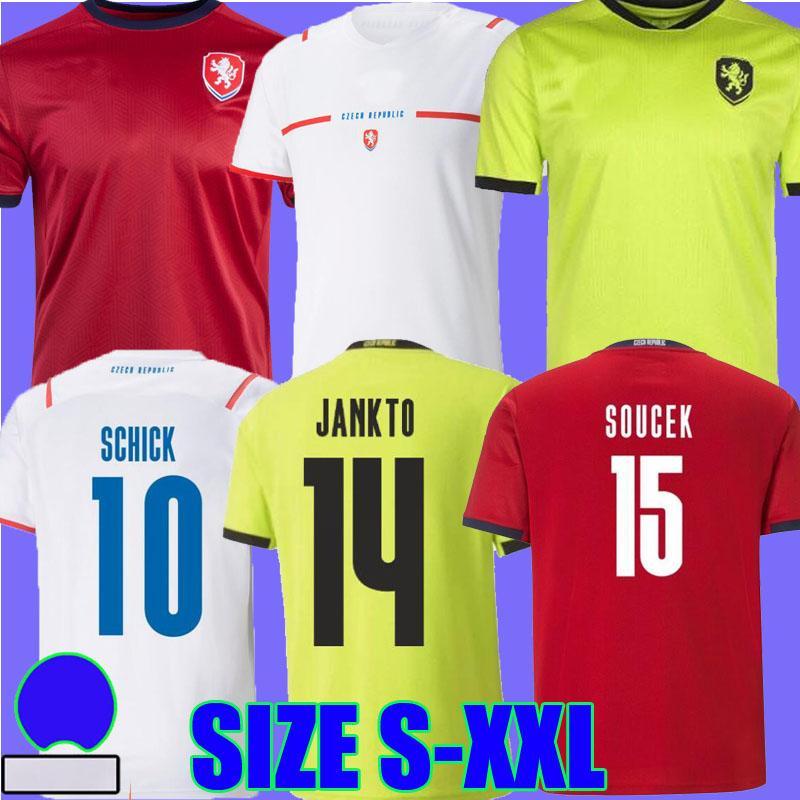 2021 جمهورية التشيك لكرة القدم جيرسي شيك بيت أبيض 21 22 Camisetas دي Fútbol Kral Soucek Jankto Coufal Darida Kaderabek كرة القدم القمصان الأعلى تايلاند الجودة