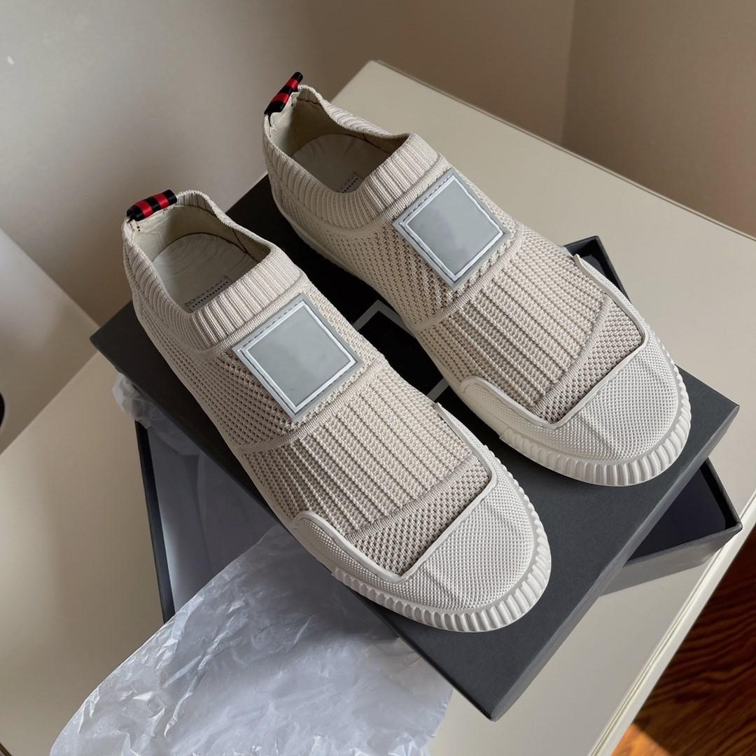 Chaussettes de visage textile chaussures décontractées souples respirantes souleveurs de caoutchouc naturel semelles femmes couvre-chaussures de luxe de luxe résistant à l'usure Slip-on