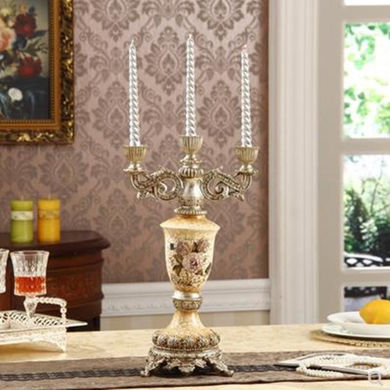 Titulaires de bougies créatives de style européen, cadeaux à la mode de mariage rétro romantique dans le salon, titulaires